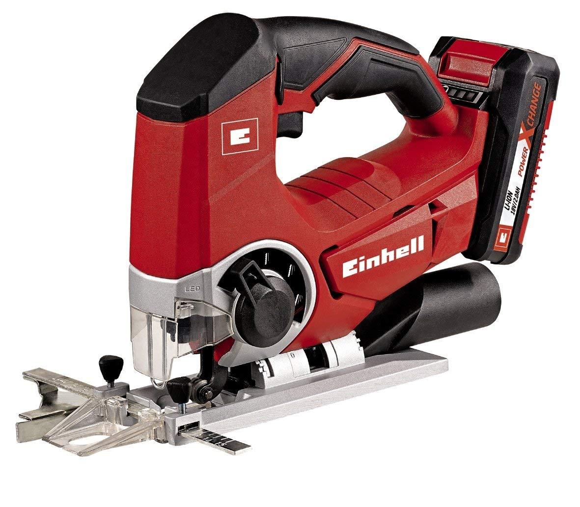 Einhell 4321203 Kit con sierra de calar, 0 W, 0 V, Negro, Rojo, Batería de 2.0 Ah + cargador