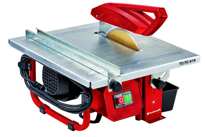 Einhell TH-TC 618 - Mesa de corte cerámico, 3000 rpm, 600 W, 230 V, color rojo y negro