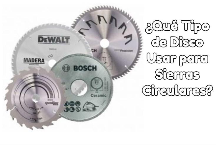 discos para sierras circulares